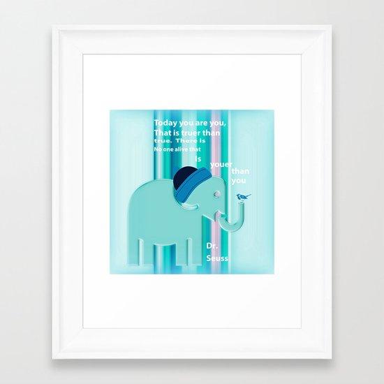 Dr. Seuss Quote Framed Art Print