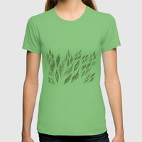 Feathers Womens Fitted Tee Grass SMALL