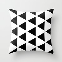 Sleyer Black On White Pa… Throw Pillow