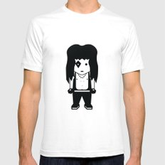 KISS Fan White Mens Fitted Tee SMALL
