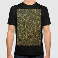 Ab Lines Gold and Navy Mens Fitted Tee Tri-Black SMALL