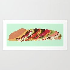 Burgers! Art Print