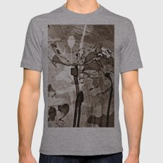 POPPY - SEPIA Mens Fitted Tee Athletic Grey SMALL