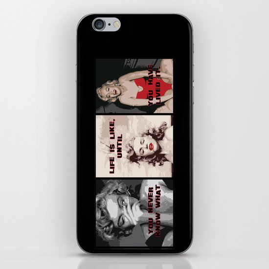 A Tribute to Marilyn Monroe iPhone & iPod Skin
