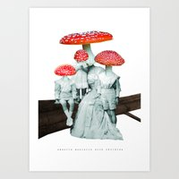 Amanita Muscaria With Ch… Art Print