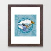 Ballena Pirata Framed Art Print