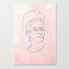 One line Frida Kahlo Canvas Print