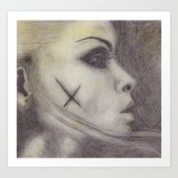 hollow eyes Art Print