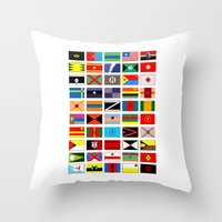 SH As Flags Throw Pillow