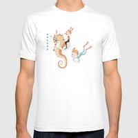 underwater Mens Fitted Tee White SMALL