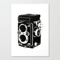 Analog power Canvas Print