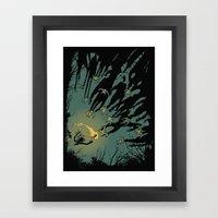 Zombie Shadows Framed Art Print