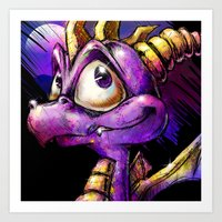 Spyro the Dragon Art Print