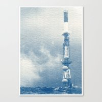 Blue Print Canvas Print