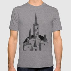 Hyrule Castle  Mens Fitted Tee Athletic Grey SMALL