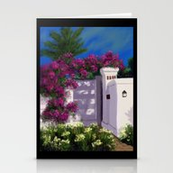 Santa Barbara Bougainvil… Stationery Cards