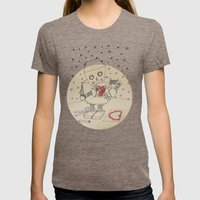 Getting ready Womens Fitted Tee Tri-Coffee SMALL