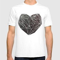 Heart Graphic 4 Mens Fitted Tee White SMALL