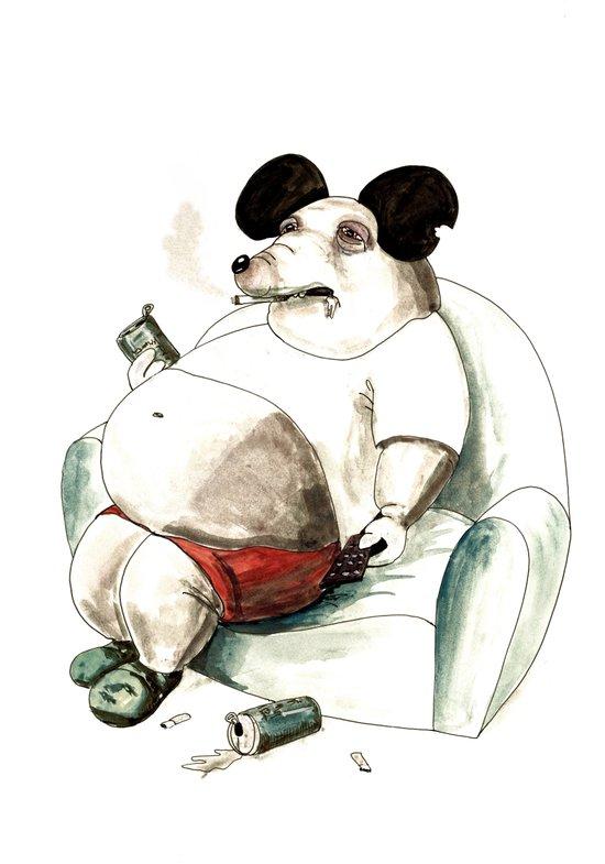 Mass Mickey Art Print