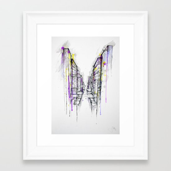 This City Sleeps Framed Art Print