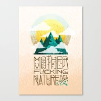 Mother Fucking Nature Canvas Print