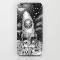 iPhone & iPod Case featuring Running Away From Home In A Rocket Ship by Leyla Akdogan