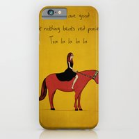 iPhone & iPod Case featuring Red Pony by Poorboymark