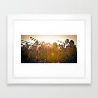 Auburn Flare Framed Art Print