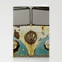 vw Stationery Cards featuring VW Rusty by Alice Gosling