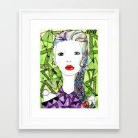 Rainbow Riot Girls. Framed Art Print
