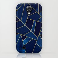 Blue Stone With Gold Lin… Galaxy S4 Slim Case
