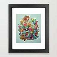Framed Art Print featuring Creative Pile by Marija Tiurina