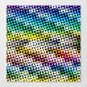 Halftone Color Chart Canvas Print
