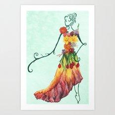 Female Floral Art Print