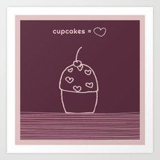 cupcake =  Art Print