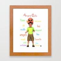 Angryocto - Tony's IceCream Framed Art Print