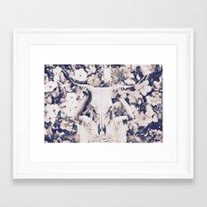 Beast Amongst the Wildflowers Framed Art Print