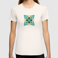 The Bright Side Womens Fitted Tee Natural SMALL