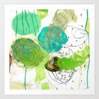 Green Experiments III Art Print