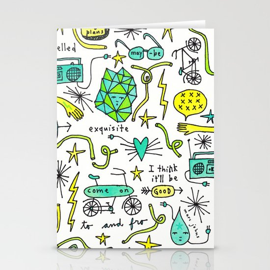 to and fro Stationery Card