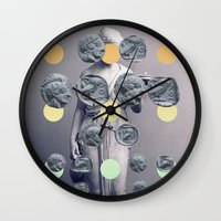 Statue With A Dot Gradie… Wall Clock