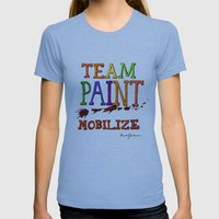 TEAM PAINT MOBILIZE Womens Fitted Tee Athletic Blue SMALL