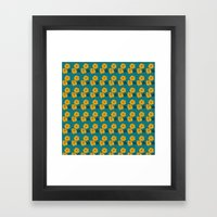 Marigold Repeat Framed Art Print