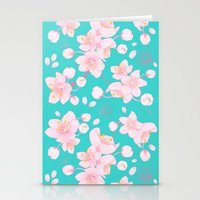 sakura blossoms Stationery Cards