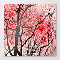 The Trees Know (red-blac… Canvas Print