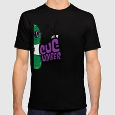 Cool as a Cucumber Black Mens Fitted Tee SMALL
