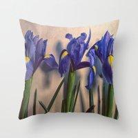 Vintage Irisis Throw Pillow