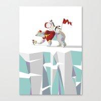 Private Penguin's Polar Percussion Canvas Print