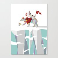 Private Penguin's Polar … Canvas Print