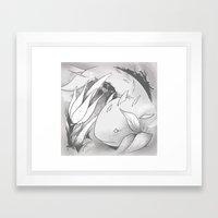Water Mysterion #1 (B&W) 'Water Mysterion'  Framed Art Print